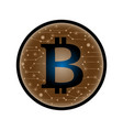 coin with bitcoin sign money and finance symbol vector image vector image