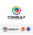 color consult logo design vector image vector image