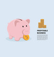 concept piggy bank symbol profitable business vector image vector image
