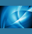 dark blue abstract smooth waves background vector image vector image