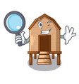 detective chiken coop isolated on a mascot vector image vector image