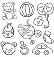 doodle of baby element style vector image vector image