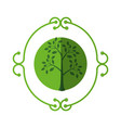 ecology stamp emblem vector image