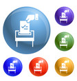 election paper icons set vector image