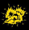 electric shock figure cartoon vector image