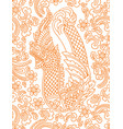 floral pattern with asian dragon vector image