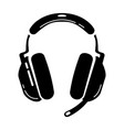 gaming headset glyph icon esports equipment vector image