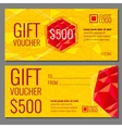 gift voucher template with modern colorful vector image vector image