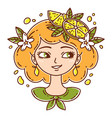 girl with lemon lemonade girl vector image