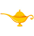 Golden lantern in old-fashioned design vector image