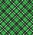 green tartan fabric texture diagonal pattern vector image vector image