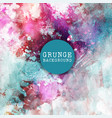 grunge paint background vector image vector image