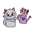 happy valentines day cute female cat vector image vector image