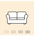 icon of sofa vector image