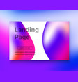 landing page background style liquid vector image vector image