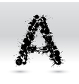 Letter A formed by inkblots vector image vector image