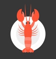 lobster in dish vector image