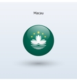 Macau round flag vector image