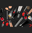 makeup banner template for online beauty store vector image vector image