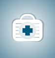 medicine bag vector image vector image