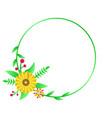modern circle frame floral template design vector image vector image