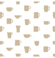 mugs and cups simple silhouette icons pattern vector image