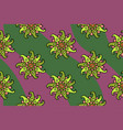 nice seamless floral pattern with green flowers vector image