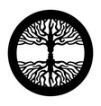 opposite man face in human concept tree symbol vector image vector image
