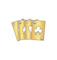 Poker Cards computer symbol vector image vector image