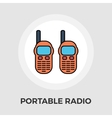 Portable radio flat icon vector image