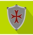 Protective shield icon flat style vector image vector image