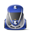 realistic green vacuum cleaner body 3d icon vector image vector image
