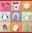 seamless pattern of christmas gingerbread vector image vector image
