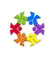 Teamwork social people logo vector image vector image
