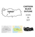 territory of turkey icon in cartoon style isolated vector image vector image