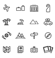 thin line icons - travel vector image vector image