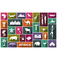 traditional symbols africa vector image vector image