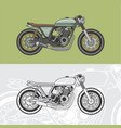 vintage caferacer vector image vector image