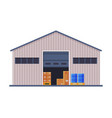 warehouse building industrial construction flat vector image vector image