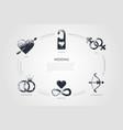 wedding - love sex engagement harmony vector image vector image