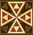 wooden inlay light and dark triangle patterns vector image vector image