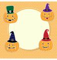 Cute Halloween card vector image