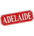 adelaide red square grunge retro style sign vector image vector image