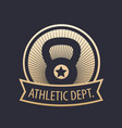 athletic department gym emblem vector image vector image