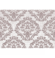 Baroque floral Damask pattern background vector image