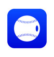 baseball ball icon digital blue vector image vector image