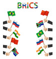 brics association of 5 countries vector image vector image