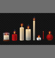 burning candles - realistic isolated clip vector image vector image