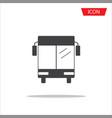 bus icon isolated public transportation symbols vector image