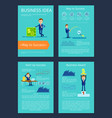 business idea and award on vector image